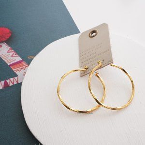 Anthropologie Large Twisted Hoop Earrings